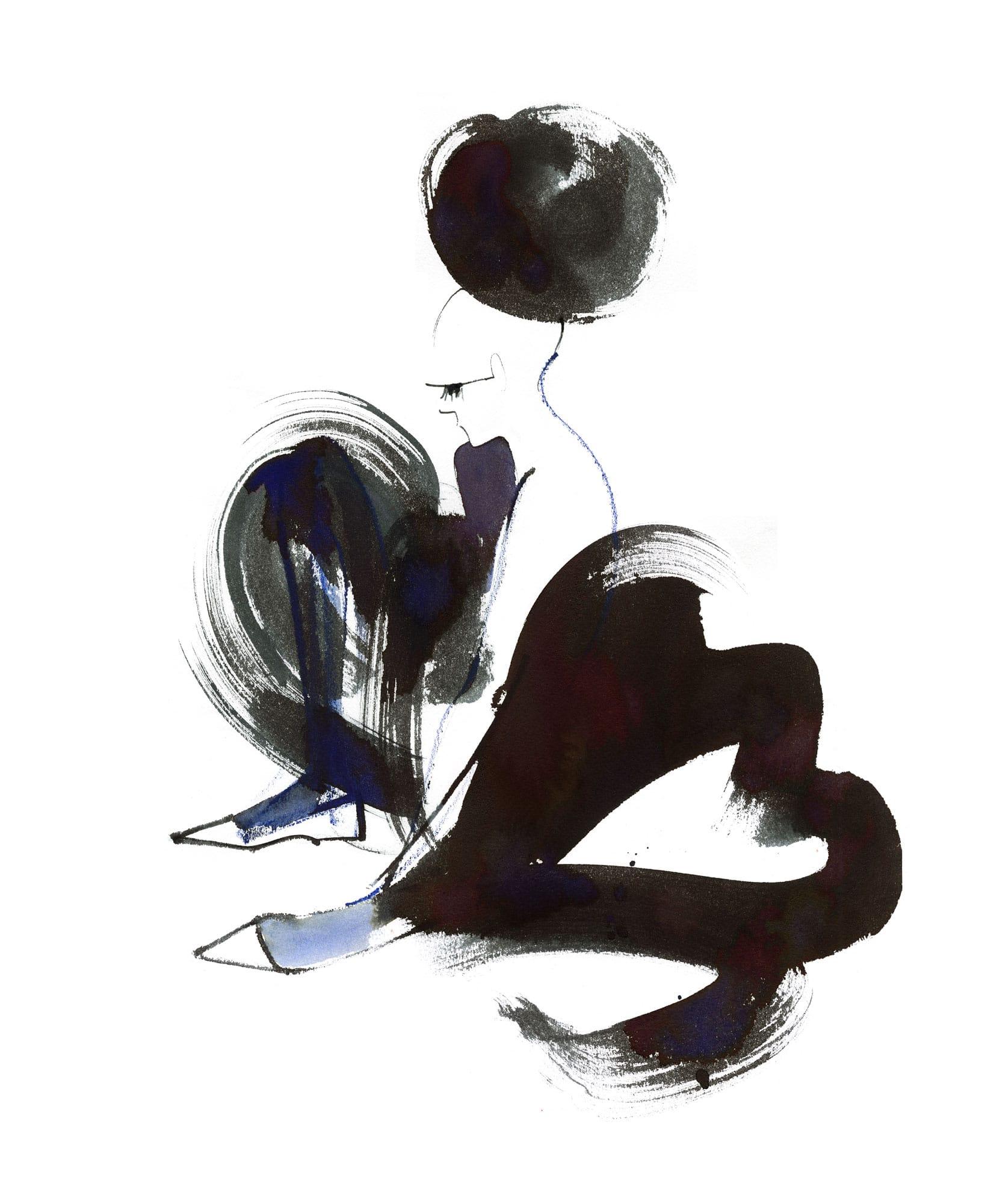 Lovisa Burfitt illustration Ballerina-contemplating