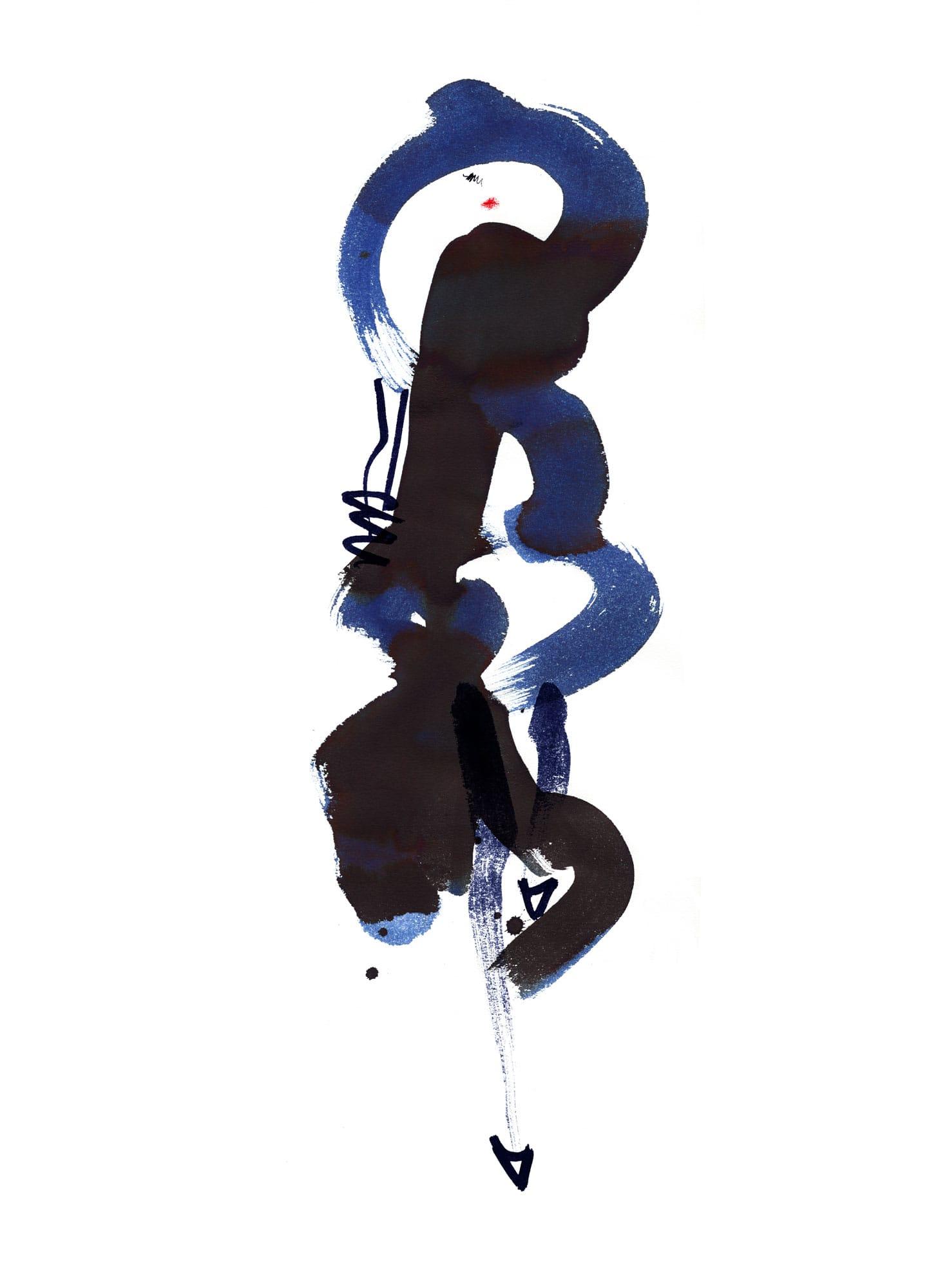 Lovisa Burfitt illustration Blue-hatter-dressy