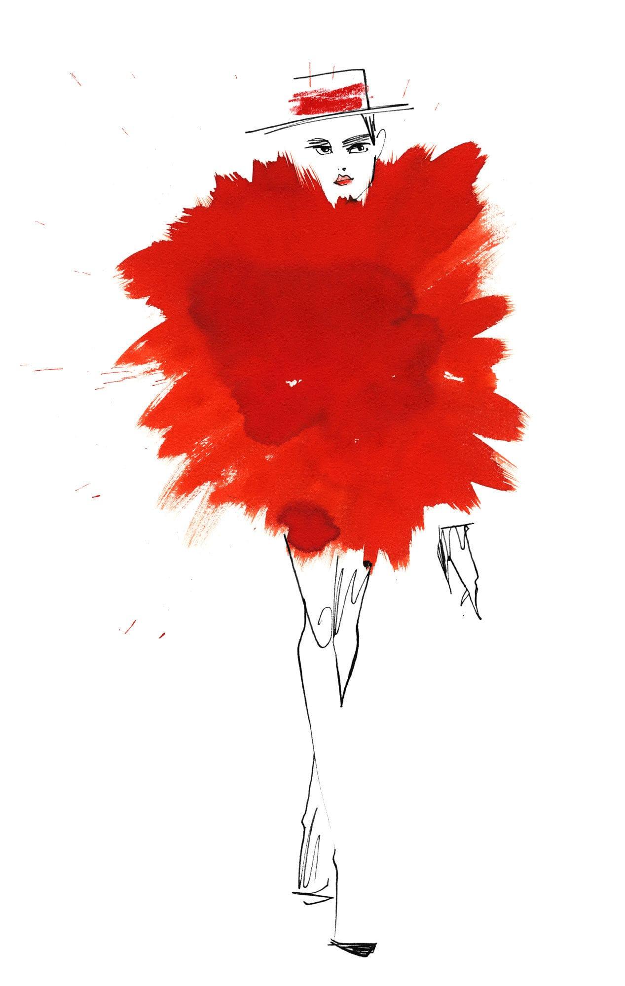 Lovisa Burfitt illustration Explosion-rouge