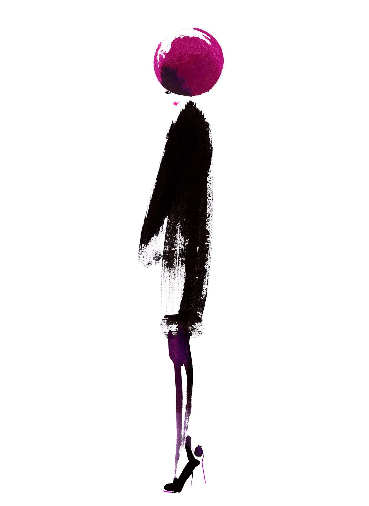 Lovisa Burfitt illustration Galeries-Lafayette-femme-x