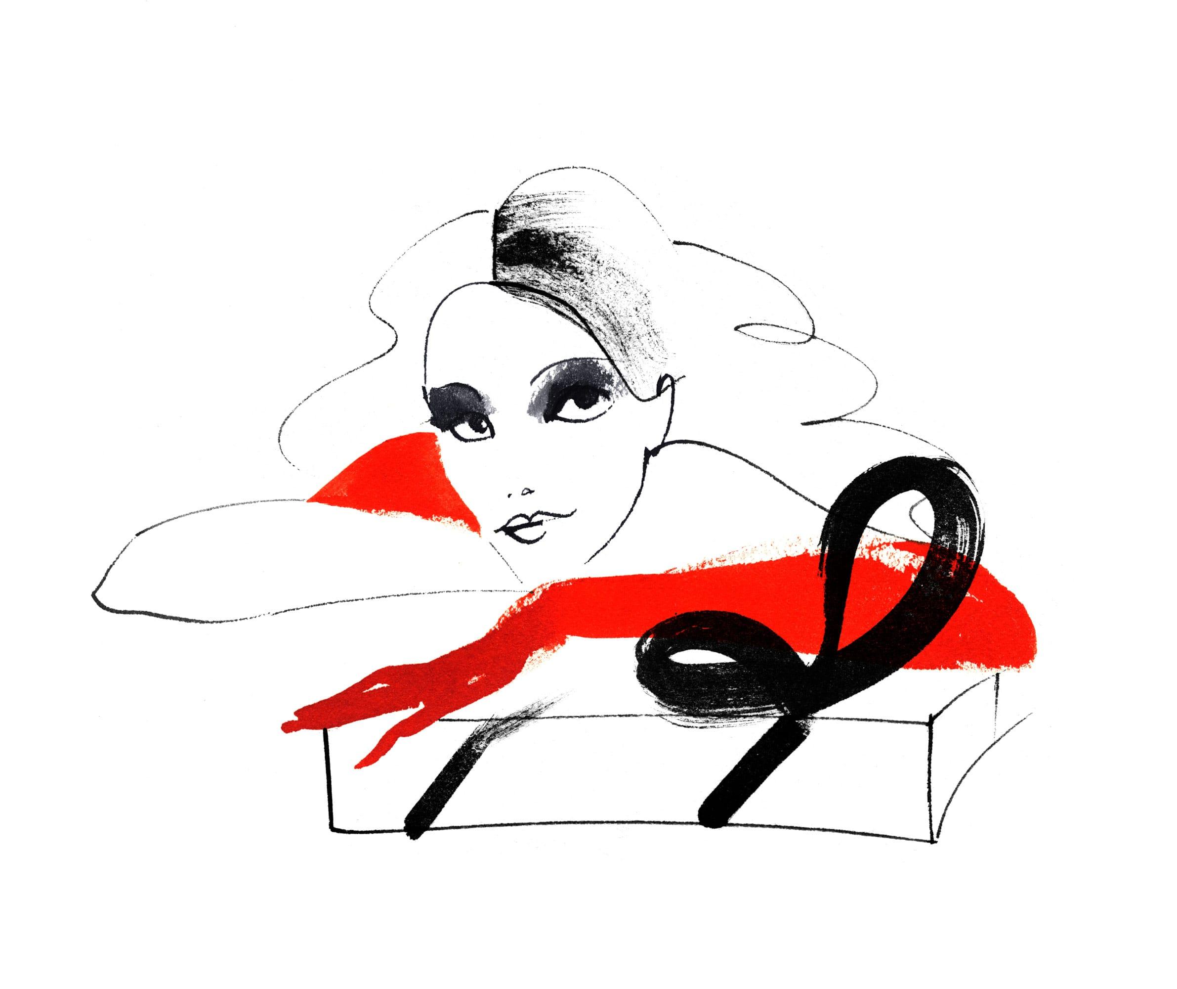 Lovisa Burfitt illustration Gift box Rocco Forte
