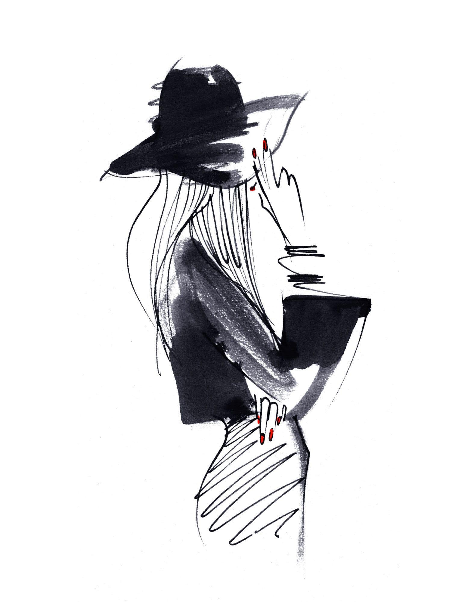 Lovisa Burfitt illustration Hatter-ongles-brillants