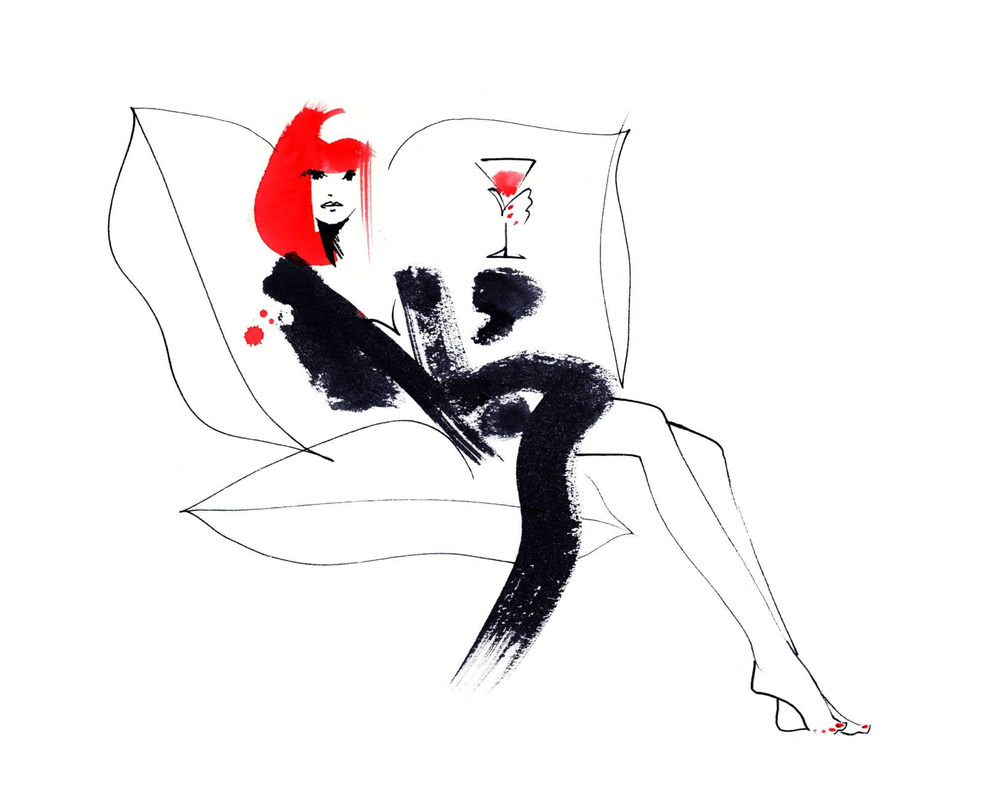 Lovisa Burfitt illustration La-rousse-et-boisson-rouge
