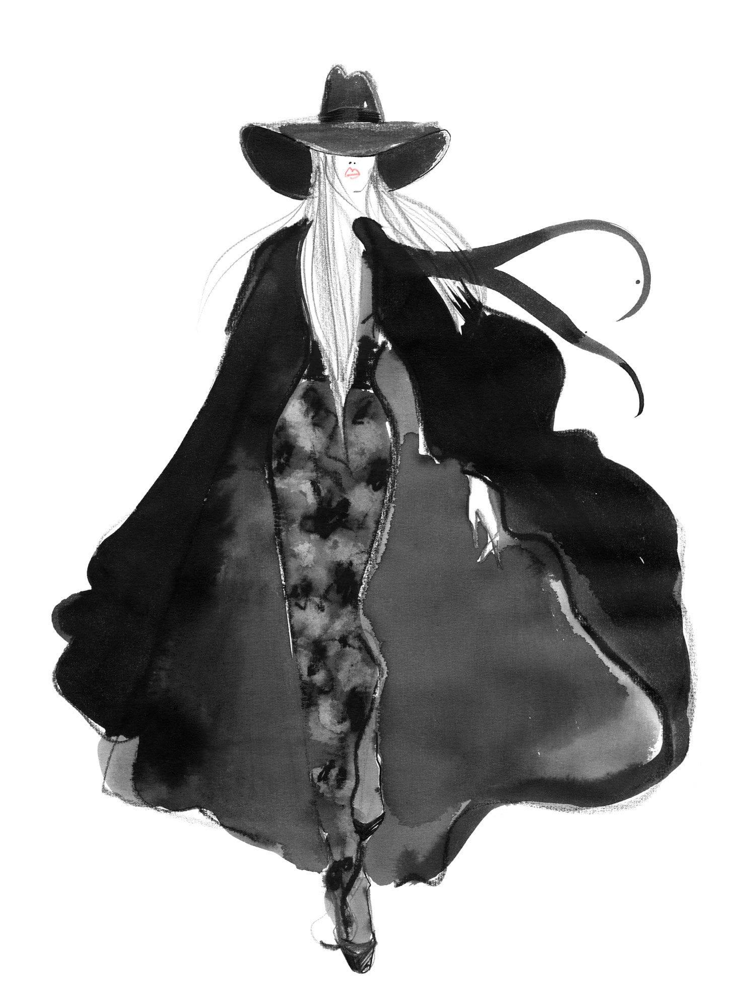 Lovisa Burfitt illustration Le-manteu-noir