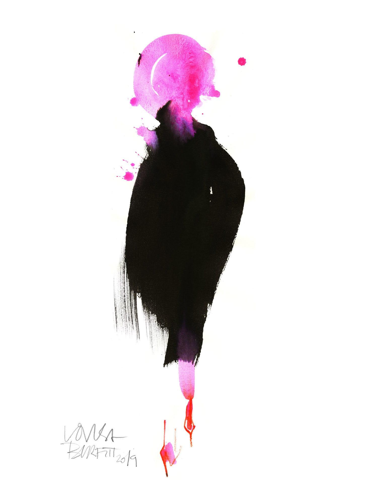 Lovisa Burfitt illustration Pink-bubble