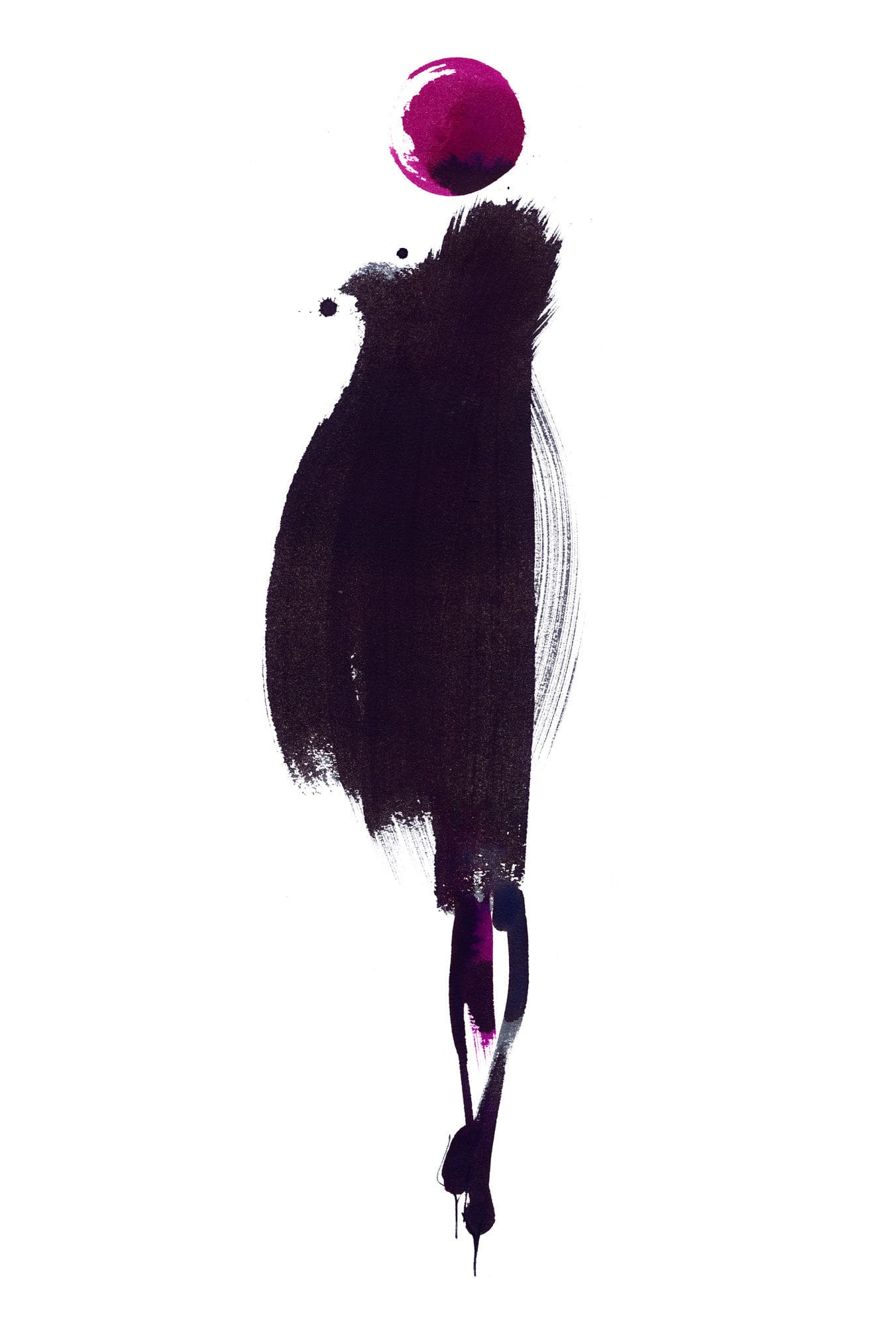 Lovisa Burfitt illustration femme-blk-shade-walk