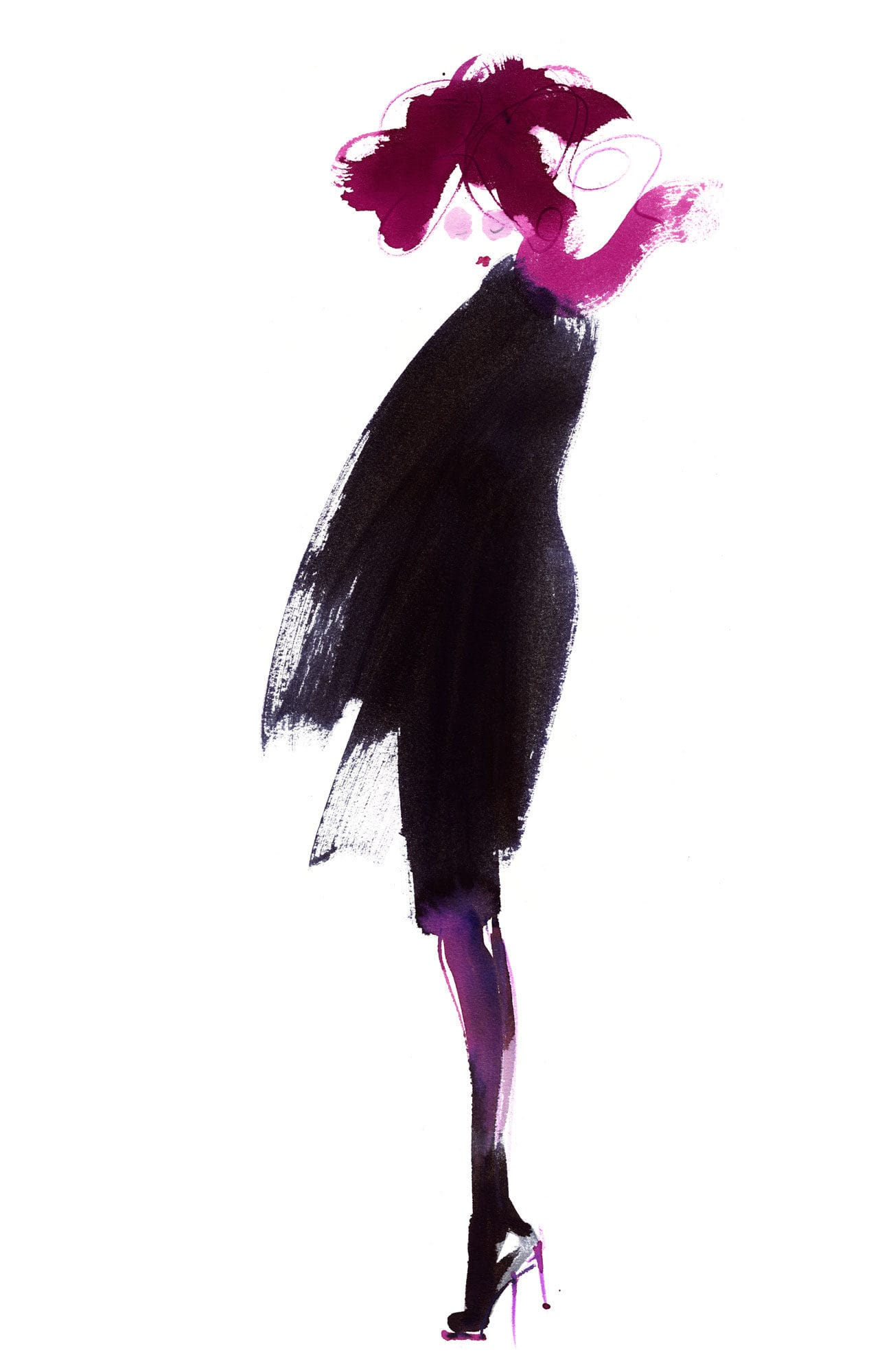 Lovisa Burfitt illustration femme-city-wind