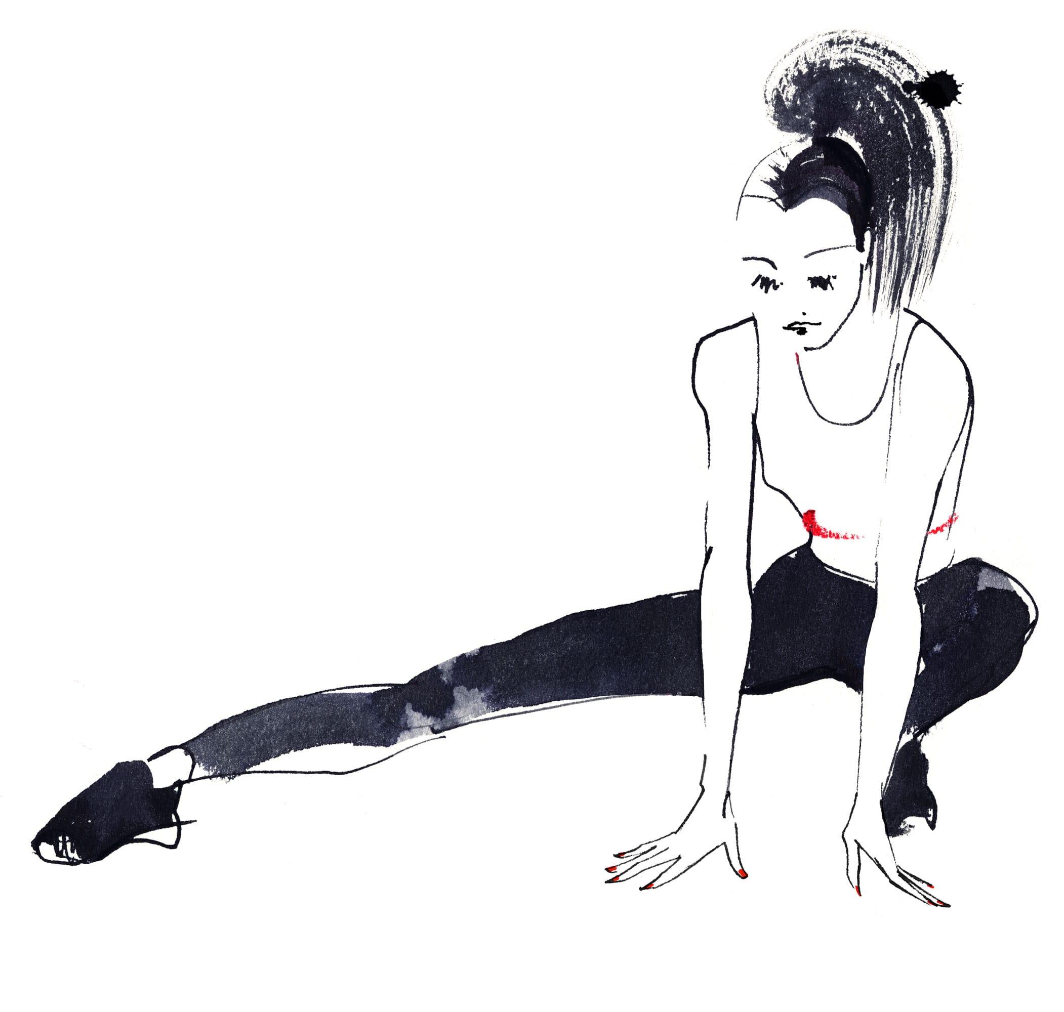 Lovisa Burfirtt illustration Gym