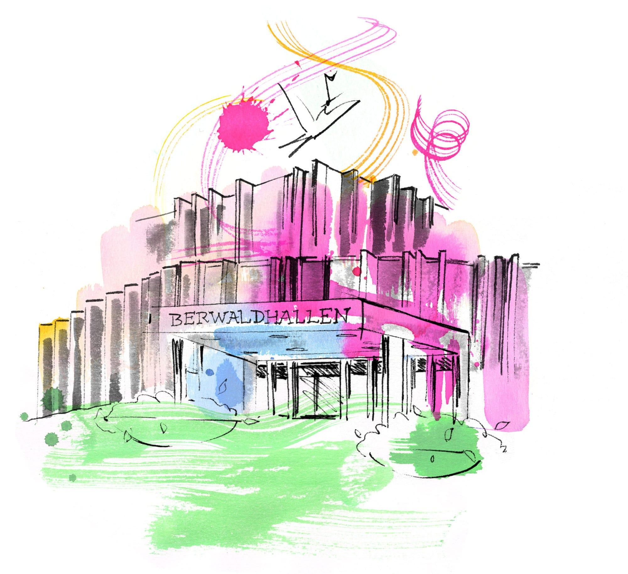 Lovisa Burfitt illustration Berwaldhallen