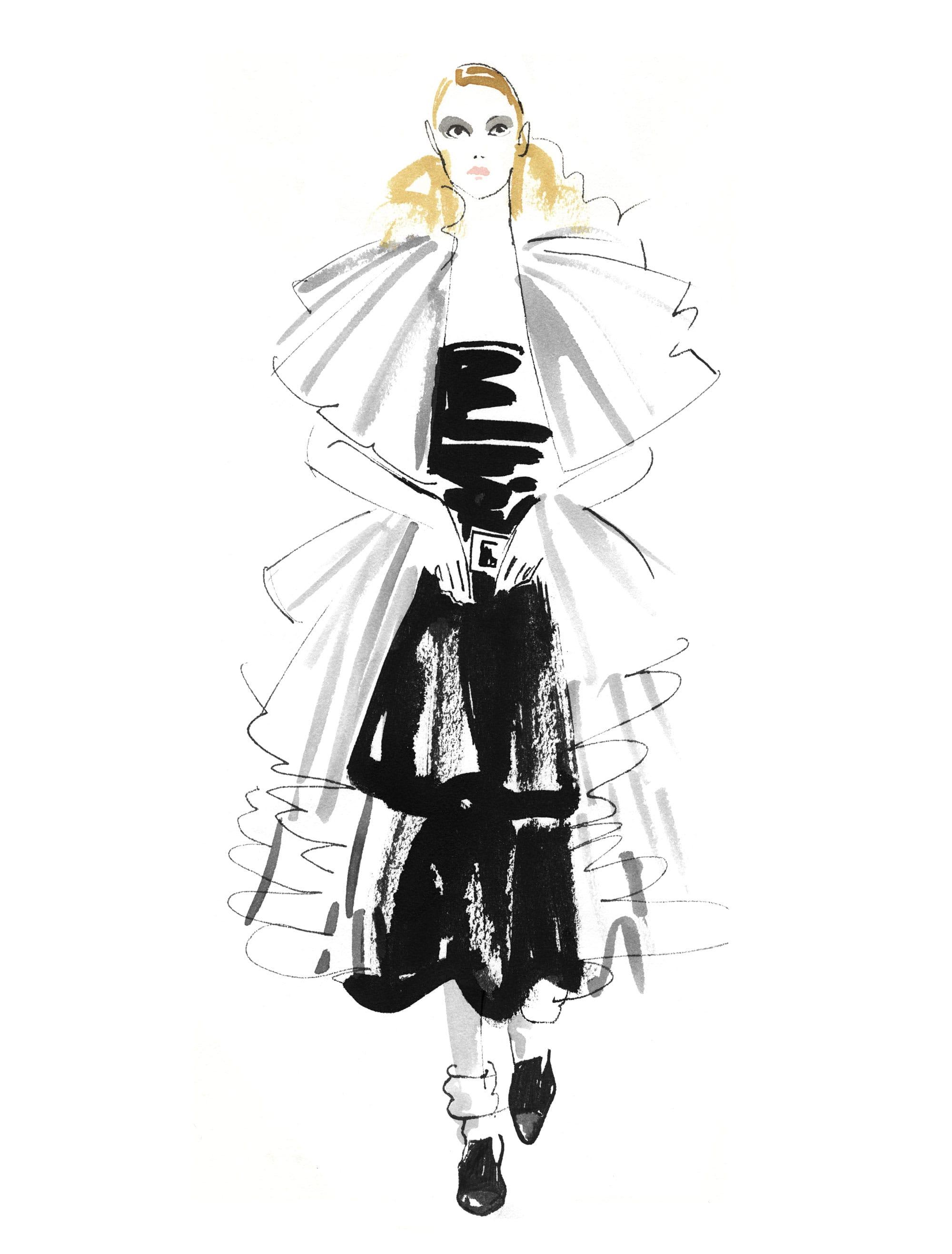 Lovisa-Burfitt-illustration-Chanel-couture-2020