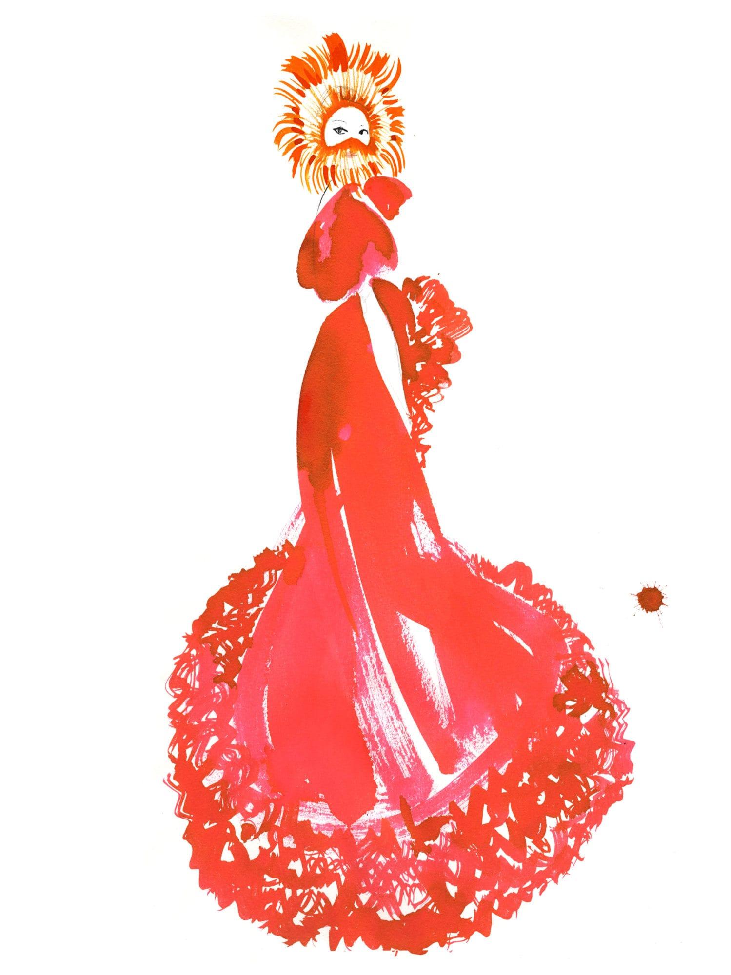 Lovisa-Burfitt-illustration-Giambattista-Valli-couture-2020