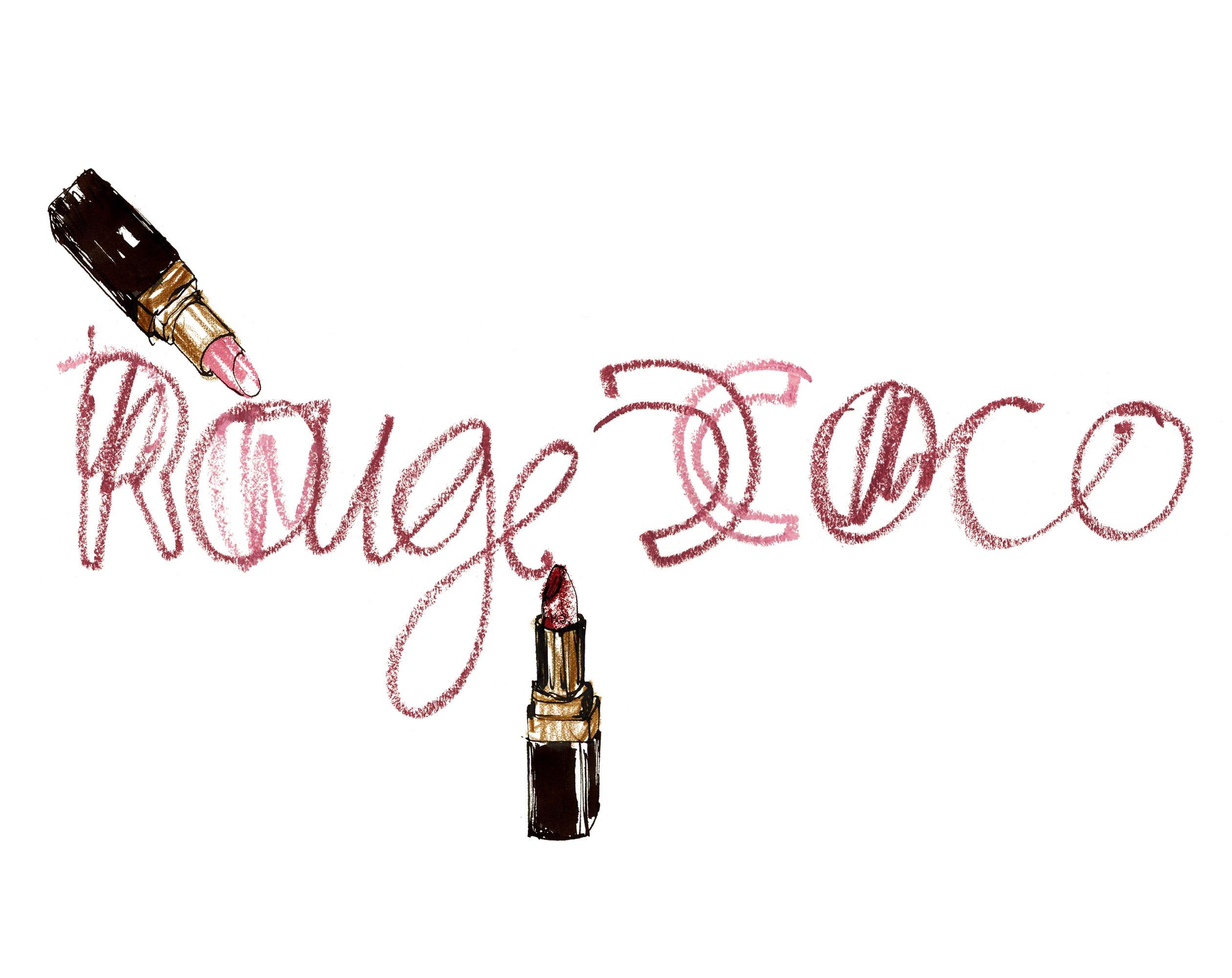 Lovisa-Burfitt-illustration-Lipstick-writing-Chanel