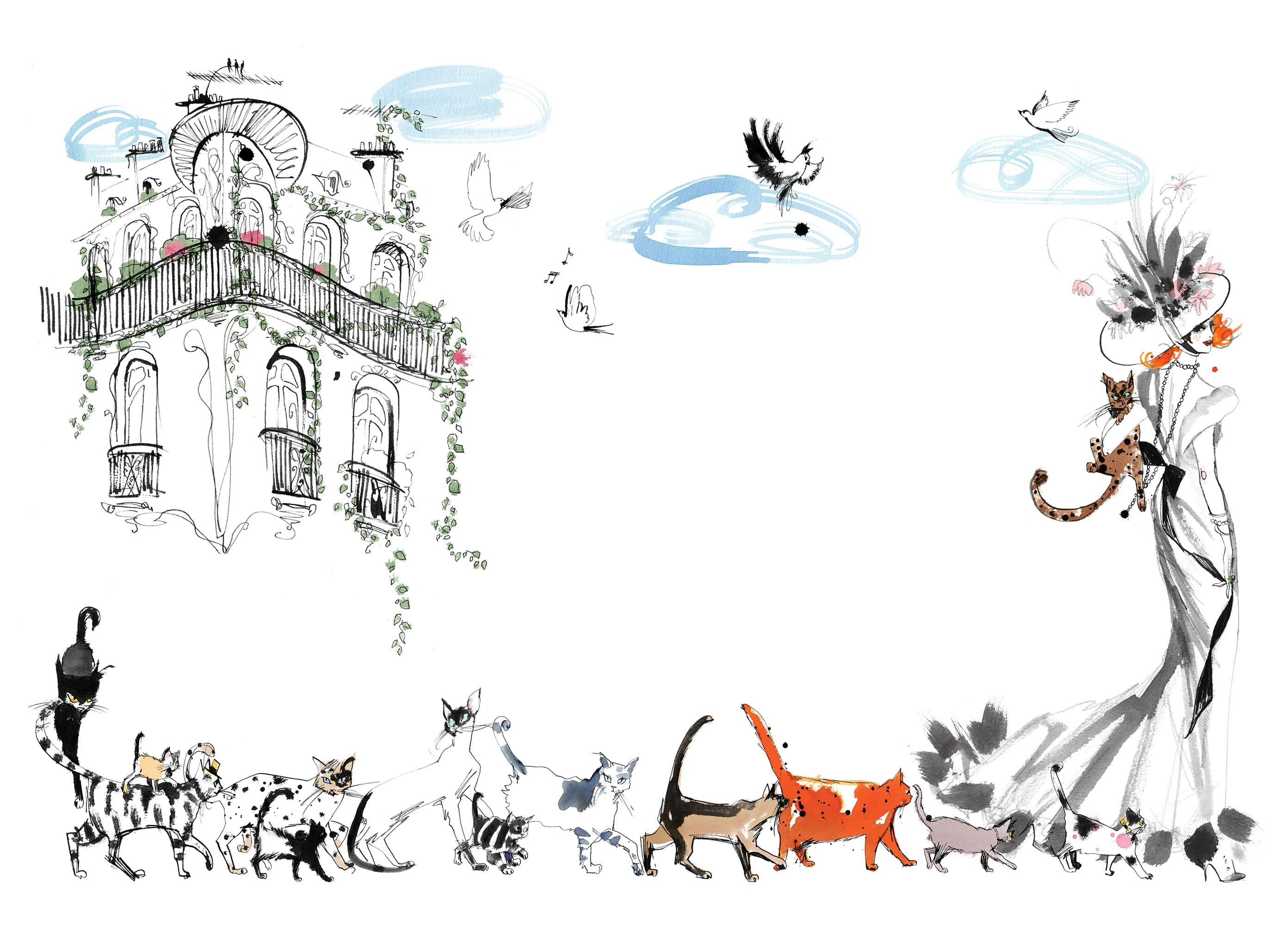 Lovisa-Burfitt-illustration-Mademoiselle-Oiseau-N°1