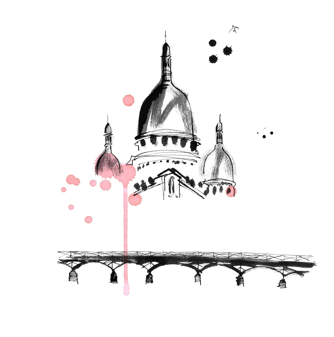 Lovisa Burfitt illustration Sacre-coeur-en-rose