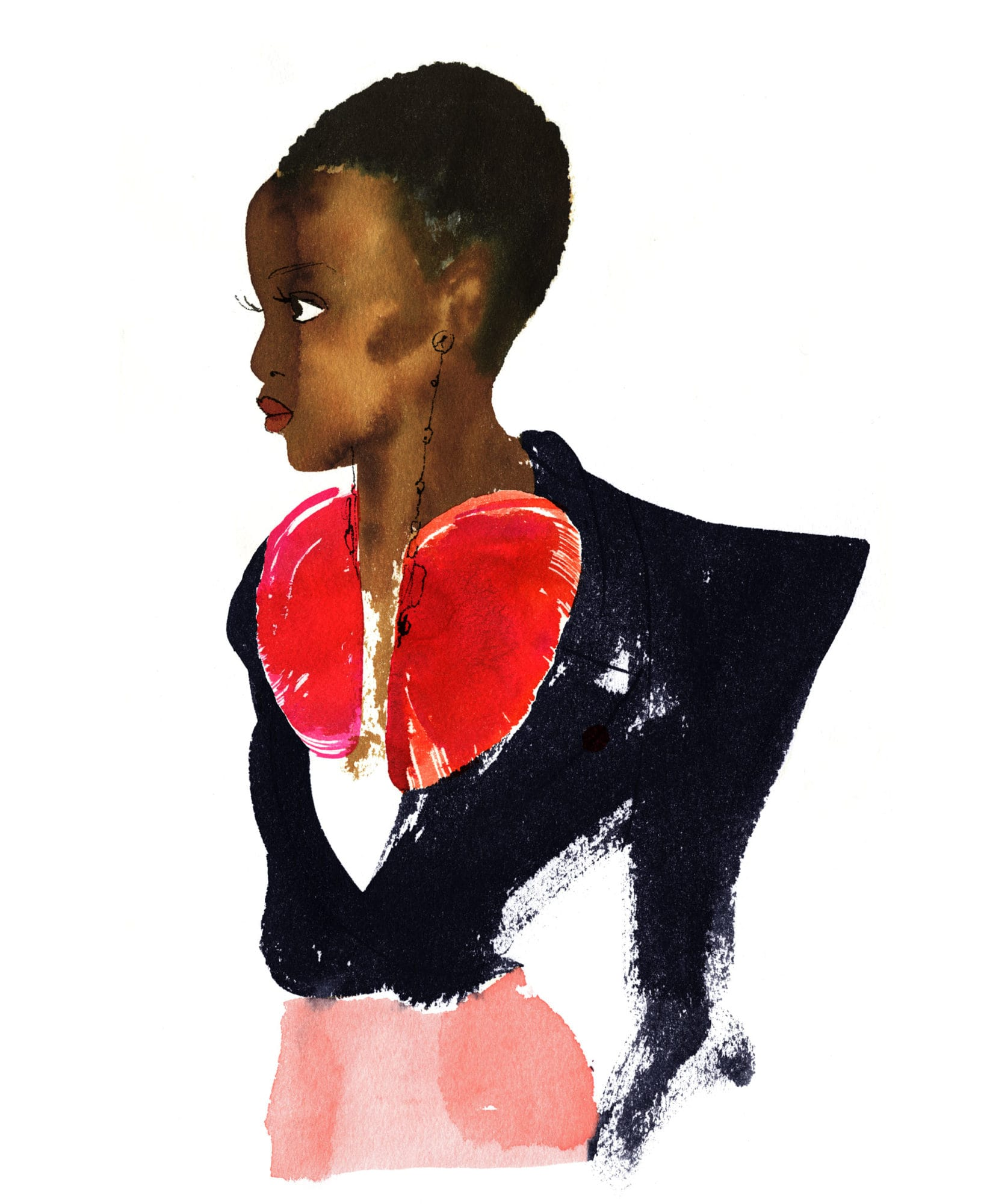 Lovisa-Burfitt-illustration-Valentino-plumes
