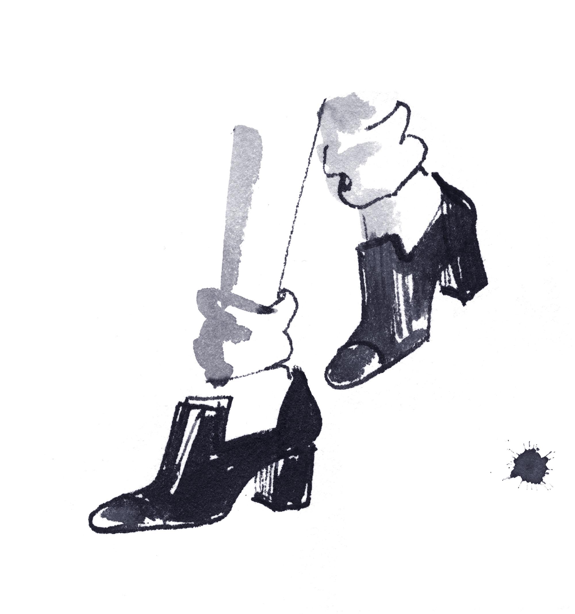 Lovisa-Burfitt-illustration-Chanel-shoes-2020