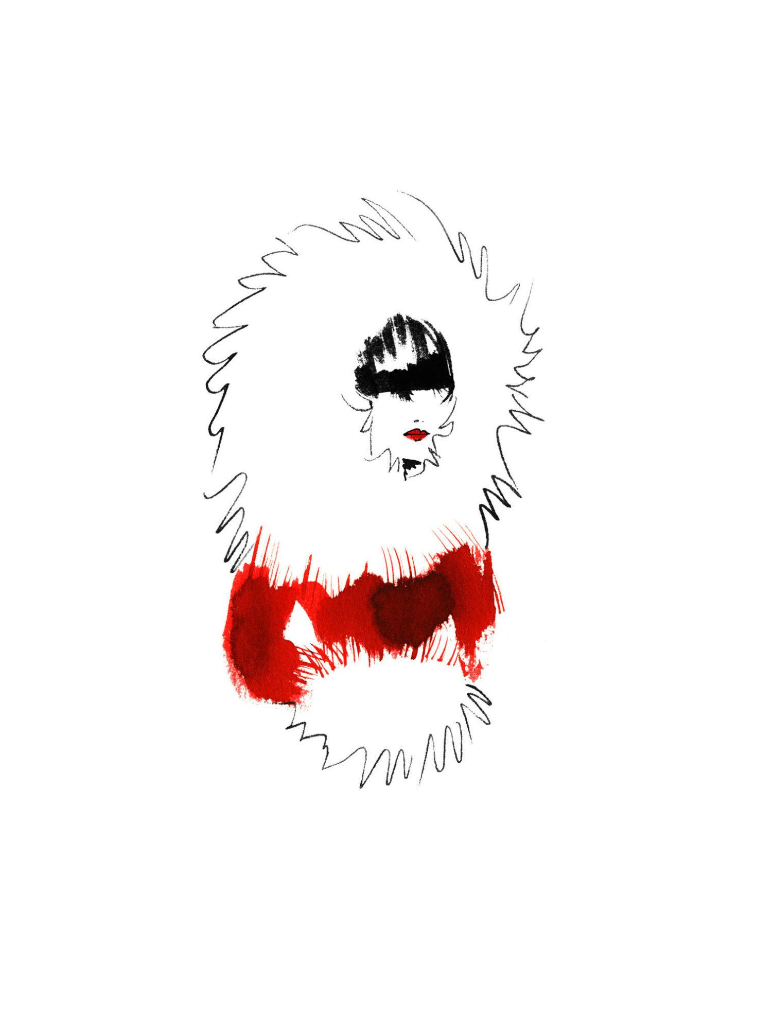 Lovisa Burfitt illustration Christmas-queen Rocco Forte