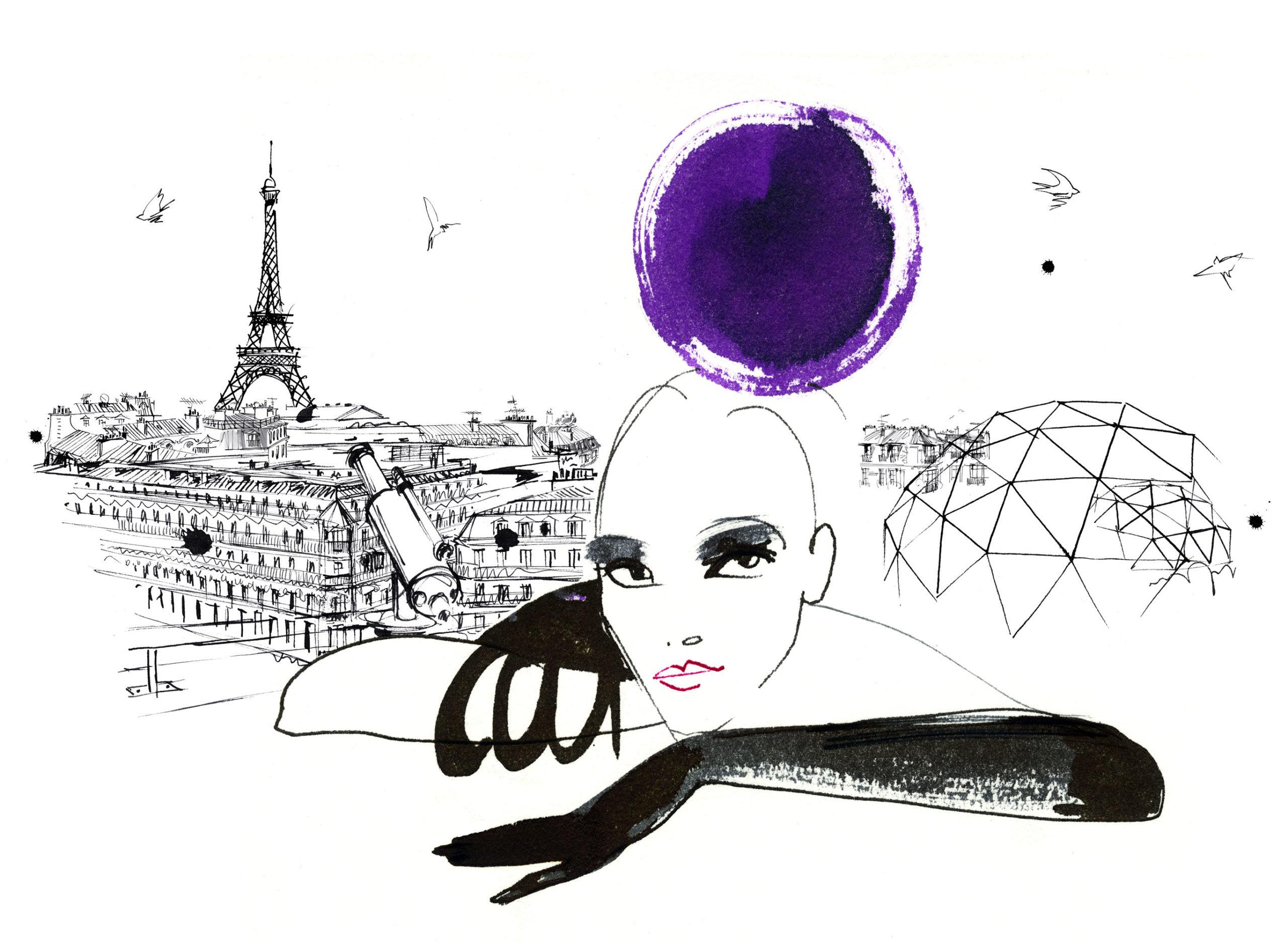 Lovisa Burfitt illustration Galeries Lafayette Allongee