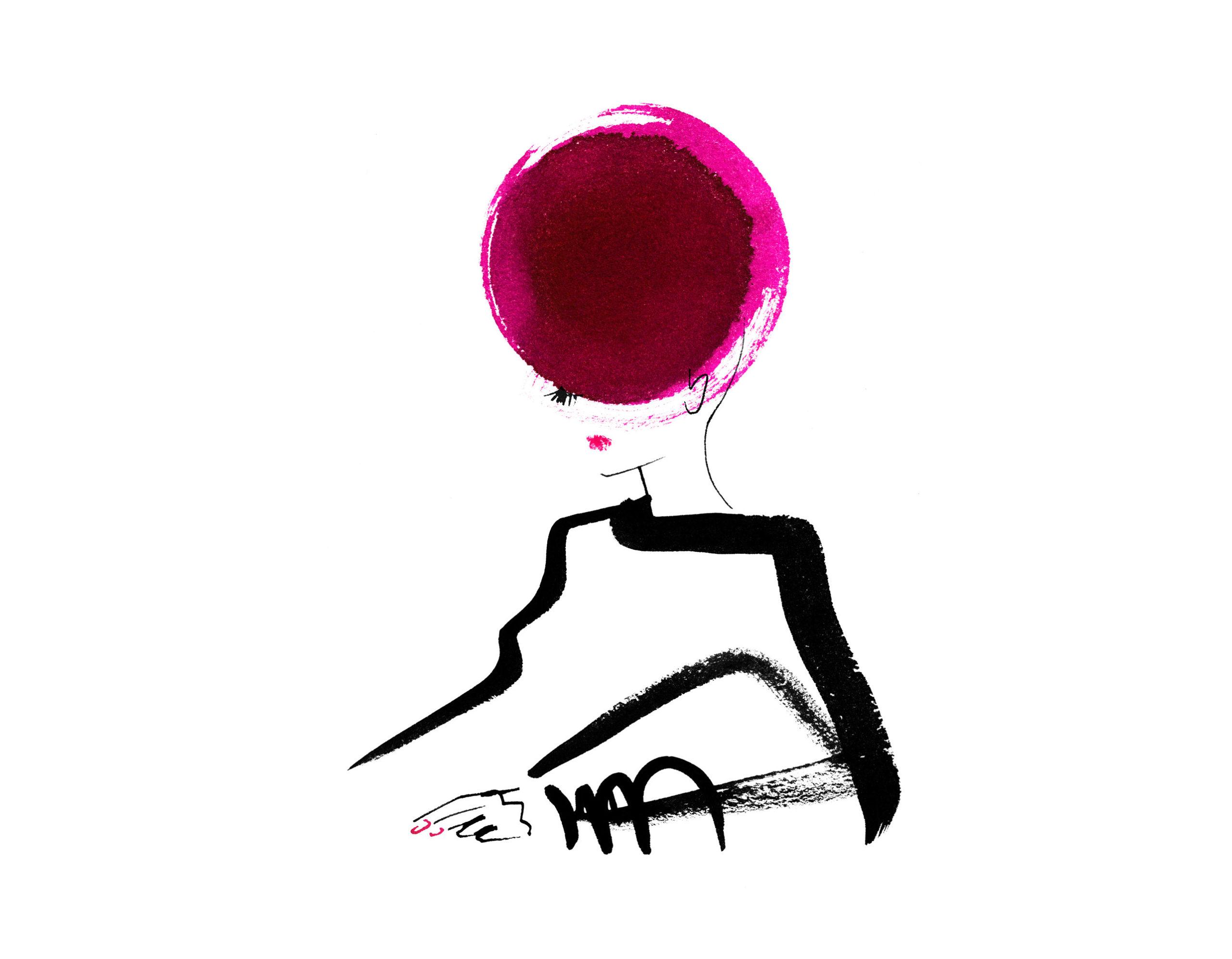 Lovisa Burfitt illustration Galeries-Lafayette-allongee