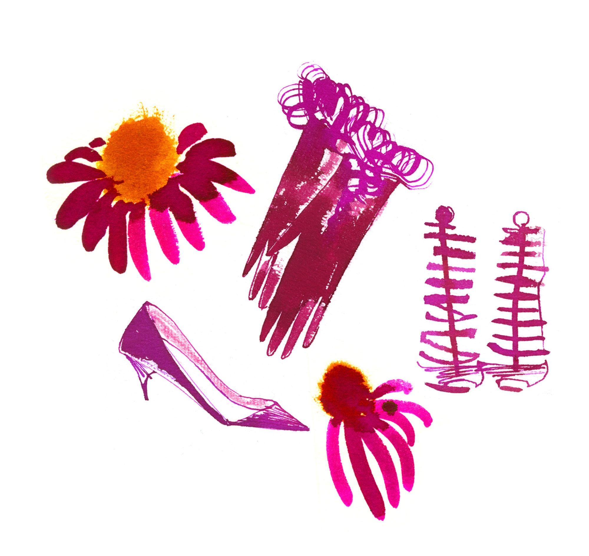 Lovisa-Burfitt-illustration-Pink-gloves-shoes