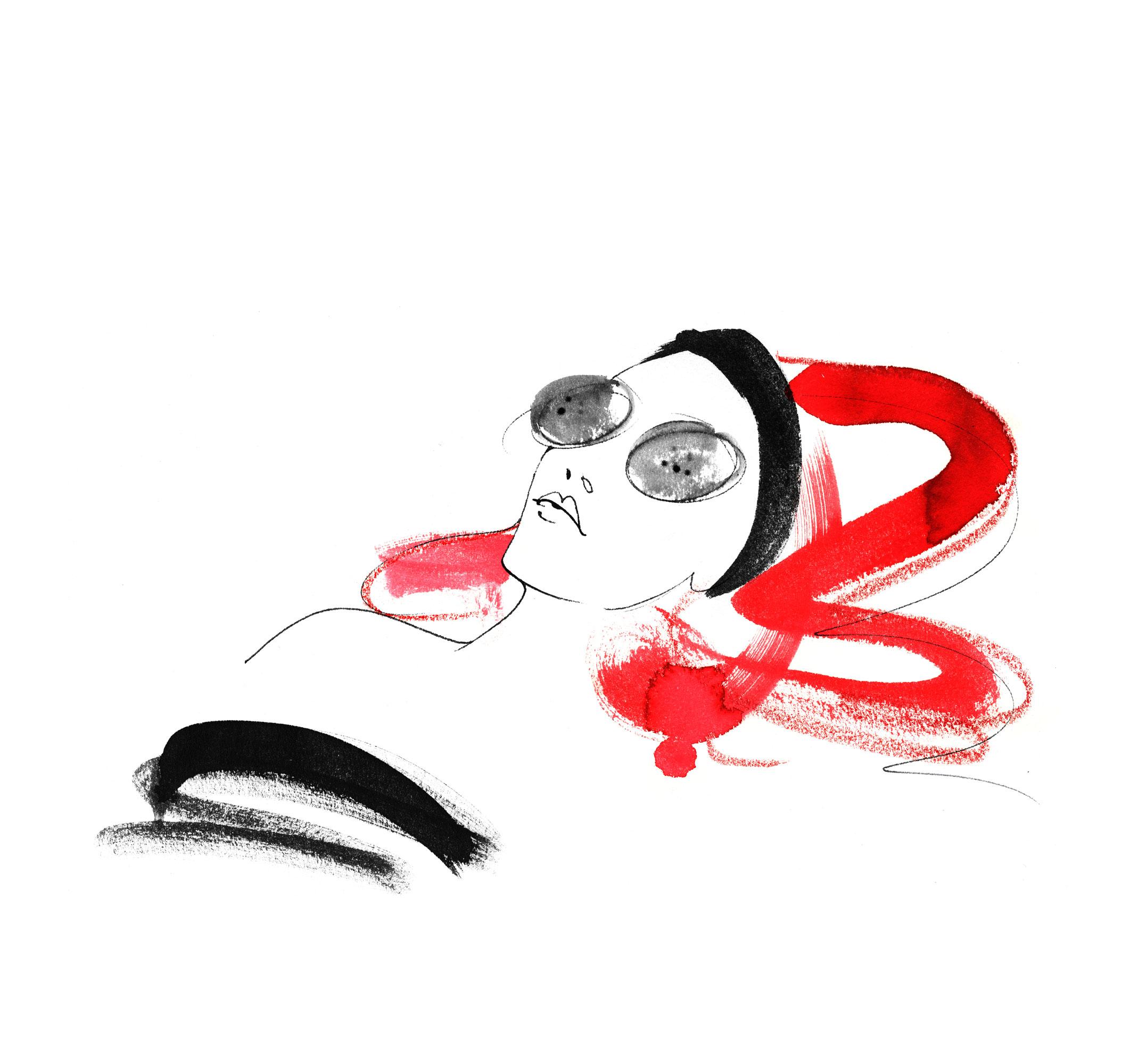 Lovisa Burfitt illustration Spa Rocco Forte