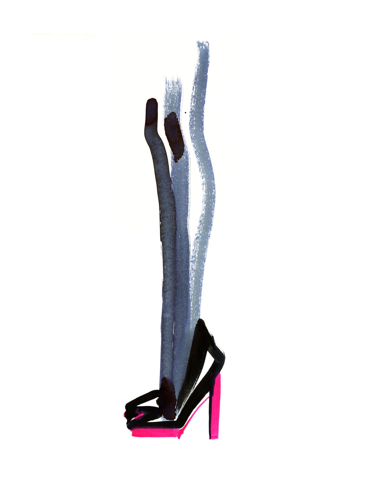 Lovisa Burfitt illustration Talons fluo pink