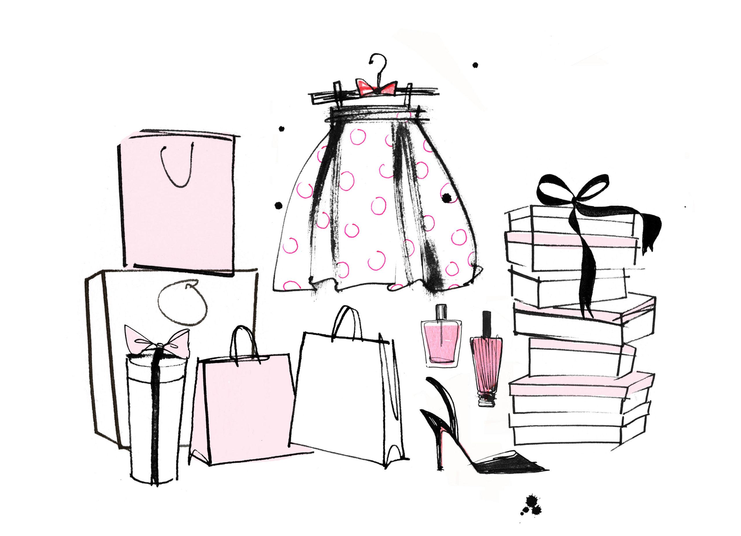 Lovisa Burfitt illustration Window-shopping
