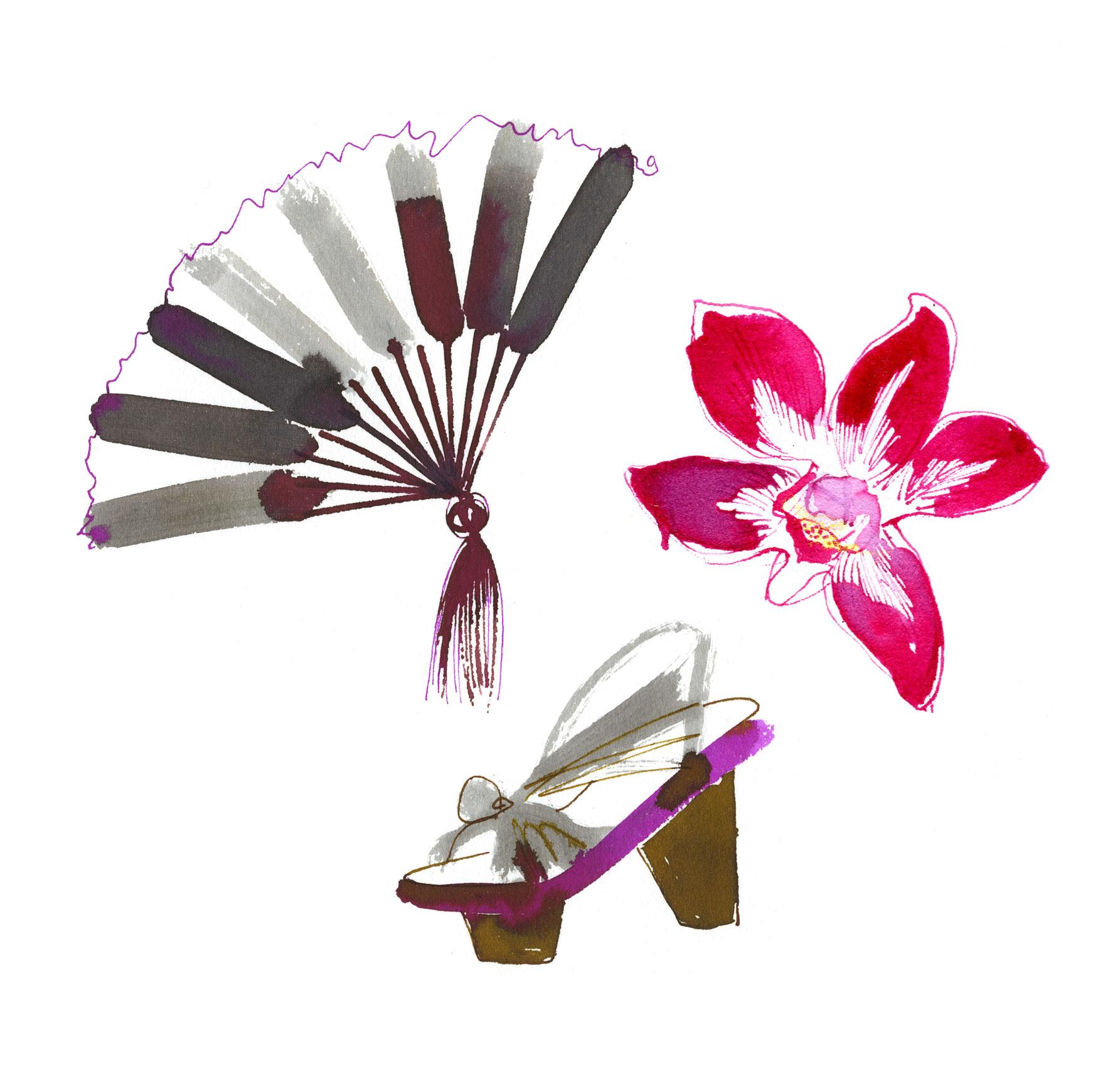 Lovisa-Burfitt-illustrations-Orchidé-Japon