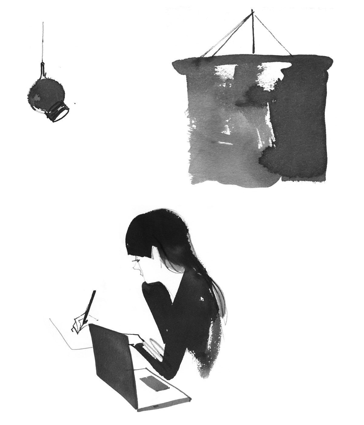 agentandartists_lovisaburfitt_fille-writing